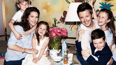 HRH Crown Princess Mary of Denmark and her family were photographed in their kitchen by Mario Testino.