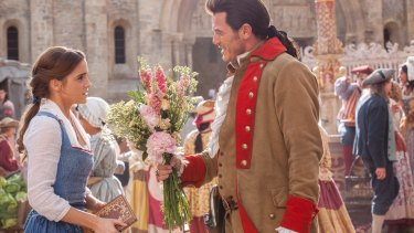 Gaston (Luke Evans) is relentless in his pursuit of Belle (Emma Watson).