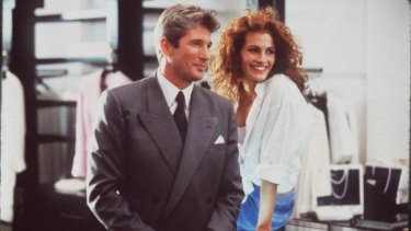 Richard Gere and Julia Roberts in Pretty Woman.