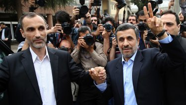 Former Iranian president Mahmoud Ahmadinejad (right) and close ally Hamid Baghaei will both stand in the Iranian presidential election.