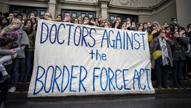 Doctors Against the Border Force Act protest in Melbourne.