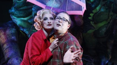 Esther Hannaford and Brent Hill in Little Shop of Horrors.