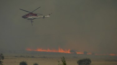 At least 10 aircraft helped to battle the blaze.