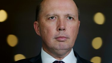 Immigration Minister Peter Dutton has been targetted by the left-wing group in his seat of Dickson.