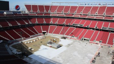 Inside view: Levi's Stadium set up for use as a concert venue.