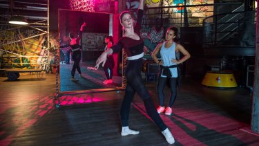 The story continues: Xenia Goodwin (left) and Dena Kaplan show their moves in a film at the modest end of its genre.