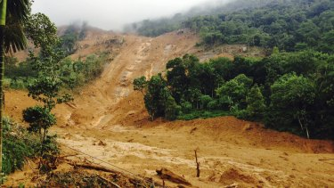 The scene on Wednesday after a massive landslide in  Kegalle District, about 72 kilometers north of Colombo.