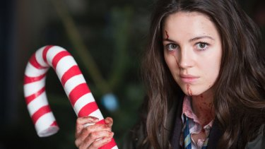 Anna (Ella Hunt) weaponises a candy cane in  Anna and the Apocalypse.