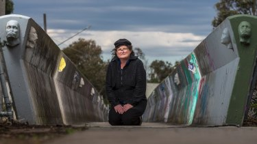 Melbourne artist Mary Rogers created the sculptures on the Brunswick West footbridge in honour of local residents.