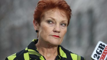 One Nation senator Pauline Hanson.