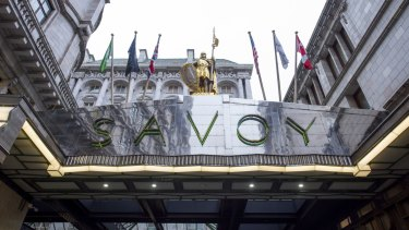Inside the Savoy.