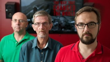 Wildbear lead editor Mike Kenneally,  writer director Michael Cove and  production manager Steven Woods.