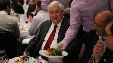 Deluxe diner with a conscience ... Clive Palmer.