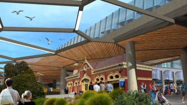 An artist's impression of what Coburg Station could look like.