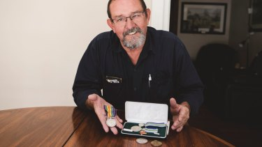 David Chittick has been reunited with his father and great uncle's war medals and coins, that were stolen more than 20 years ago.