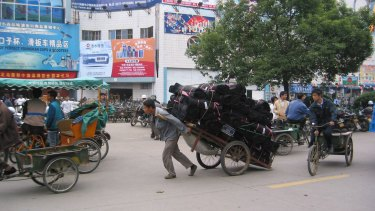 Yiwu in Zhejiang province, China, supplies cheap Christmas goods to the world.