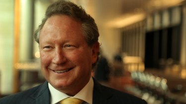 Billionaire Andrew Forrest is giving away a large chunk of his personal fortune.