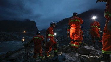 Search efforts continued into the night after a deadly landslide in China.