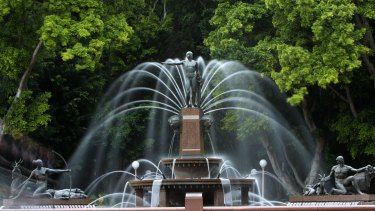 Restoration work on the Archibald Fountain in Hyde Park always attracts much public comment.