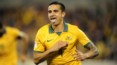 Harsh words: Tim Cahill says he is unlikely to consider a move to the A-League unless bosses can convince him they have a positive vision for the competition's future.