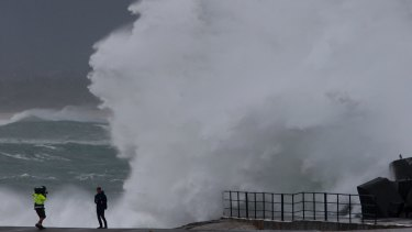 Wollongong Harbour copped a battering during the May 2015 east coast low.
