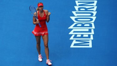 Maria Sharapova survived a scare to remain unbeaten in 2015.
