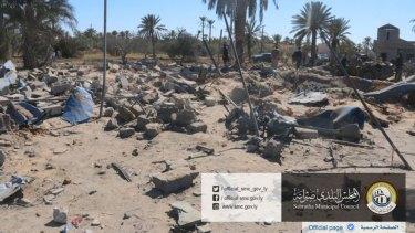 The site where US warplanes struck an Islamic State training camp in Sabratha, Libya near the Tunisian border. More than 40 Islamists were killed.