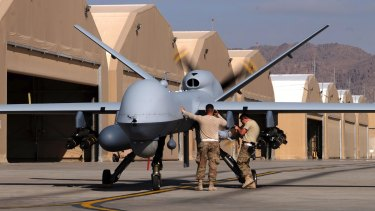 The MQ-9 Reaper, by General Atomics Aeronautical Systems, is an an automated drone used by the United States.