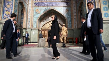 Foreign Affairs Minister Julie Bishop in Iran this month.