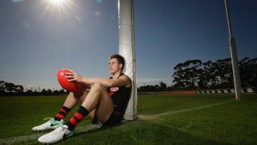 Essendon footballer Zach Merrett this week in Melbourne.