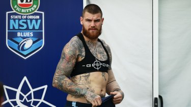 Setback: Josh Dugan aggravated an elbow injury during training for Origin I.