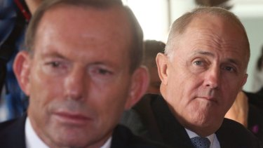 Malcolm Turnbull and the man he replaced, Tony Abbott.