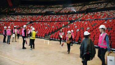 Retractable seating means the stage floor can hold a 2000-strong crowd.