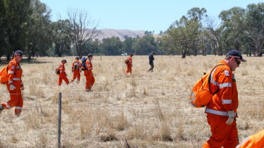 SES volunterrs joined the search for Karen Chetcuti.