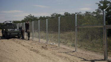 Construction of the fence began on Monday despite heavy criticism from other European countries.