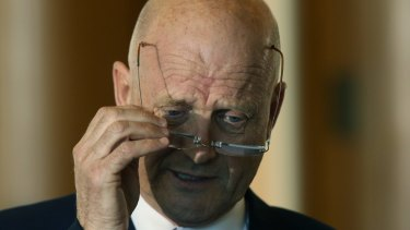 """""""I have some sympathies for where the government wants to go, plus some reservations,"""" David Leyonhjelm told The Australian Financial Review."""
