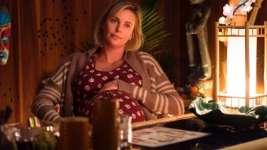 Charlize Theron plays a tired mum in Tully.