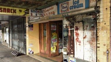 One of the last of Australia's Greek-Australian-run milk bars; the Olympia's dilapidated shopfront speaks of a bygone era.