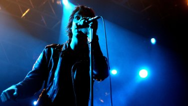 Julian Casablancas of The Strokes performing at the Hordern Pavilion in 2006.