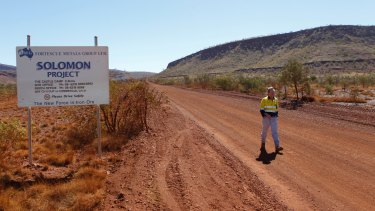 Fortescue Metals Group's Andrew Forrest at the Solomon Mine in 2010.