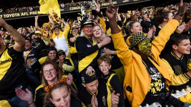 Jubilant Richmond fans.
