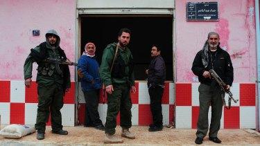 Sutoro Assyrian militiamen in Tel Tamer.
