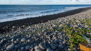 The beach at Saint-Andre, Reunion island, where a wing part was found earlier.