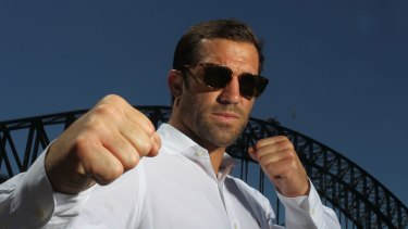 ''I plan on walking out with my belt'': Luke Rockhold.