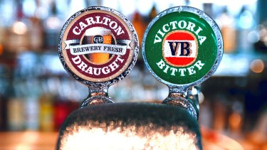 The mainstream beer brands Carlton Draught and Victoria Bitter are losing favour.