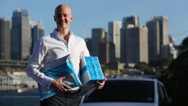 Founder Steve Orenstein of Zoom2u, an Uber-like on-demand service.