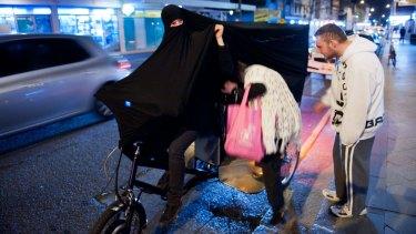 Still from Cigdem Aydemir's Extremist Activity (Ride), 2011.