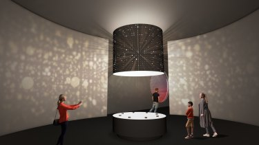 An artist's impression of the entrance to ACMI's new permanent exhibition, which will replace the popular Screen Worlds.