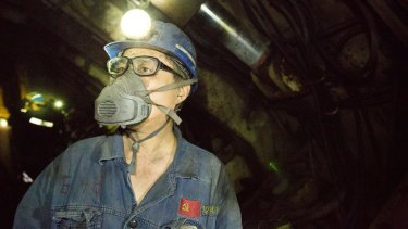 A worker at Yanzhou's Dongtan mine in Zoucheng. China's domestic coal prices drive seaborne price.