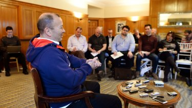 Holding court: England coach Eddie Jones has made major inroads with his new team.